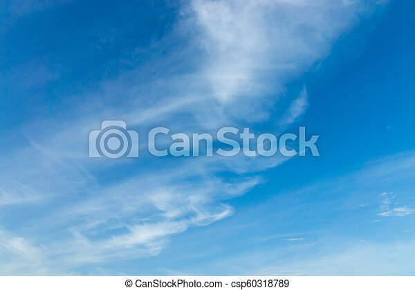 Blue sky with white cloud - csp60318789