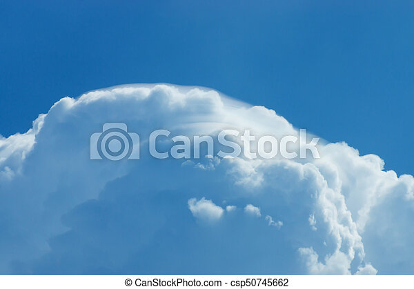 Blue Sky with white cloud. - csp50745662