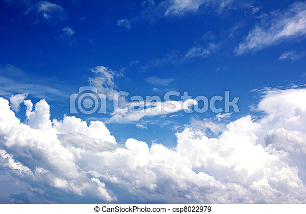 Blue sky with white cloud - csp8022979