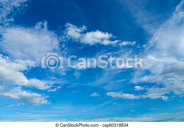 Blue sky with white cloud - csp60318834