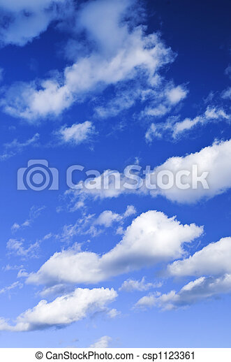 Blue sky with white clouds - csp1123361