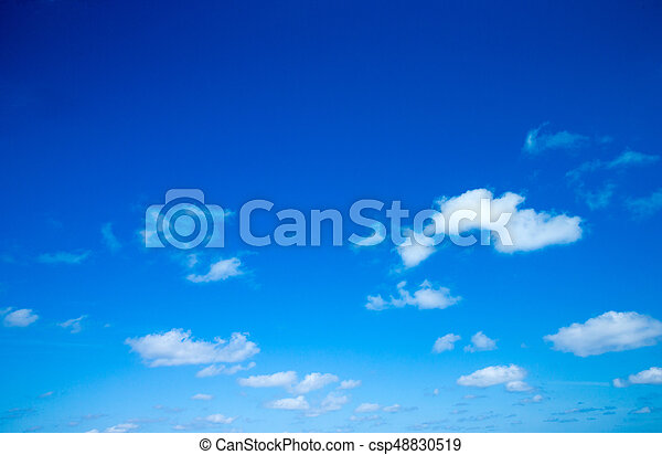 Blue sky with white clouds - csp48830519