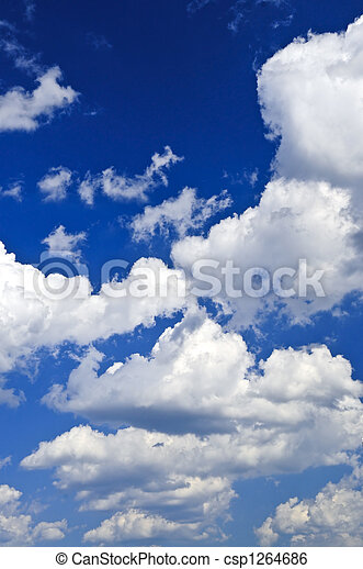 Blue sky with white clouds - csp1264686