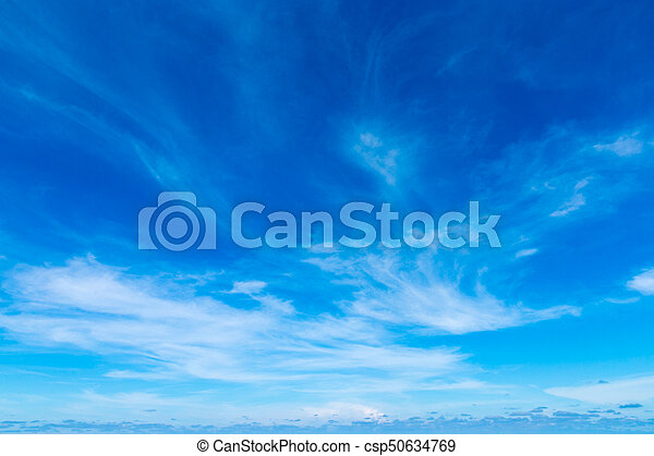 Blue sky with white clouds - csp50634769