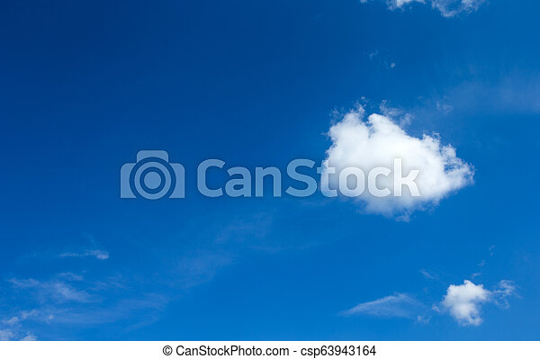 Blue sky with white clouds. - csp63943164