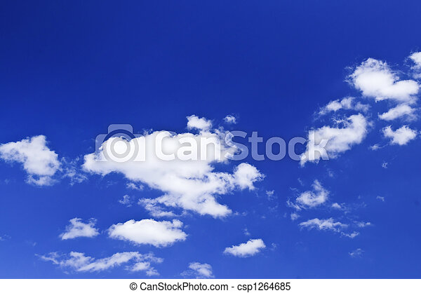 Blue sky with white clouds - csp1264685