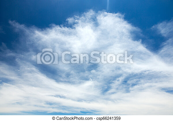 Blue sky with white clouds - csp66241359