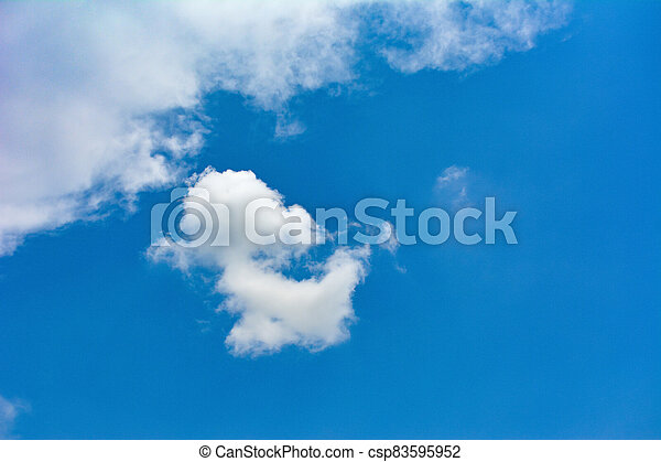 Blue sky with white clouds - csp83595952