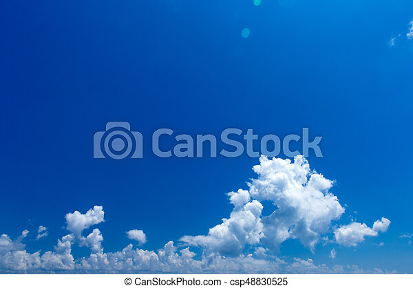 Blue sky with white clouds - csp48830525