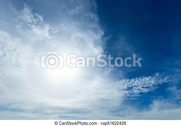 Blue sky with white clouds - csp51622428