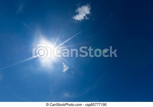Blue sky with white clouds - csp65777190