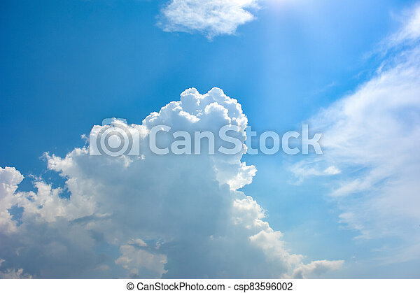 Blue sky with white clouds - csp83596002