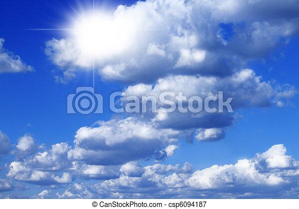 Blue sky withsun rays - csp6094187