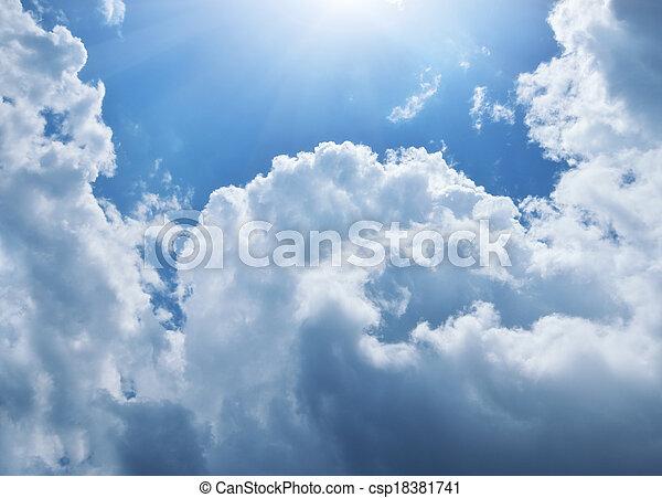Blue skylight.  - csp18381741