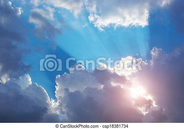 Blue skylight. - csp18381734