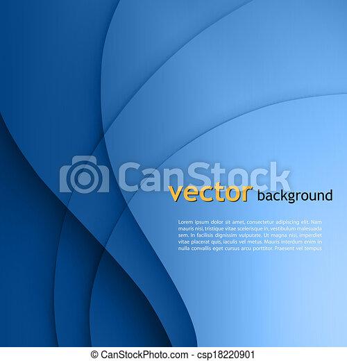 Blue  smooth twist light lines vector background. - csp18220901