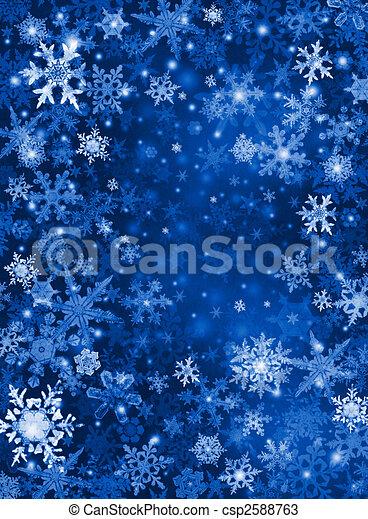 Blue Snow Background - csp2588763