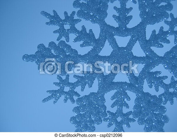 Blue snowflake background - csp0212096