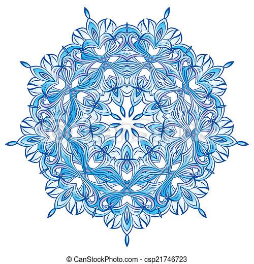 Blue Snowflake - csp21746723