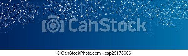 Blue social network background. - csp29178606
