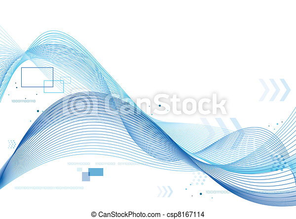 blue soft lines background csp8167114