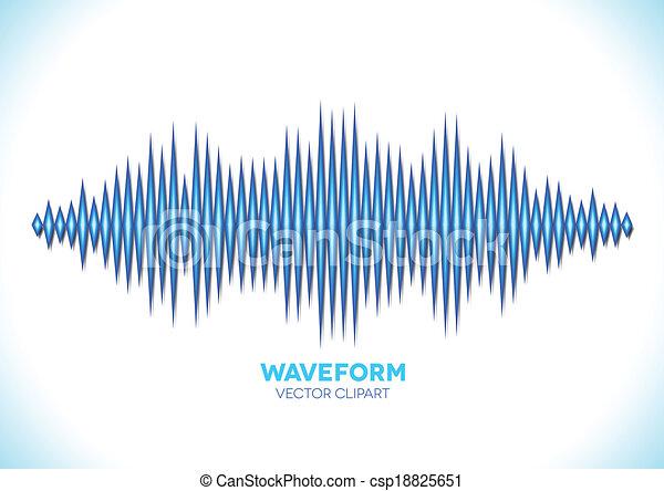 Blue sound waveform - csp18825651
