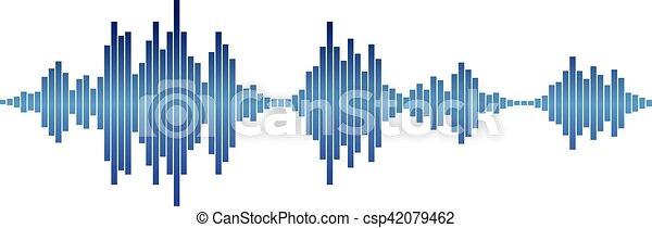 blue Sound waves - csp42079462