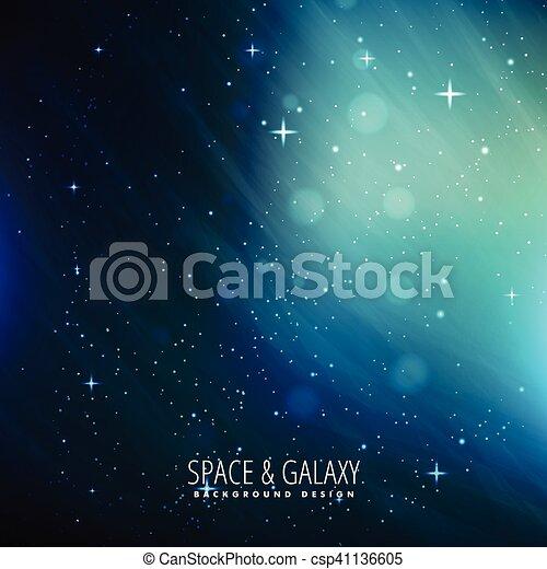 blue space background - csp41136605