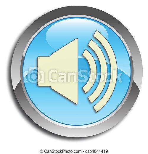 Blue speaker button - csp4841419