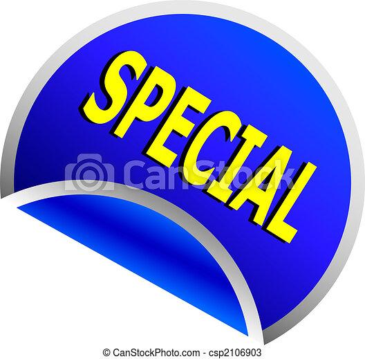 blue special button - csp2106903