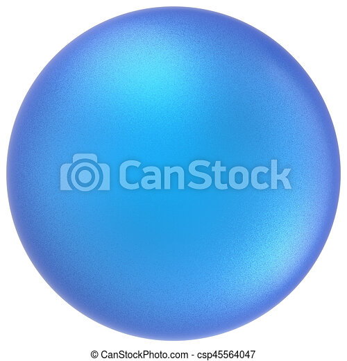 Blue sphere round button ball basic matted cyan circle empty - csp45564047