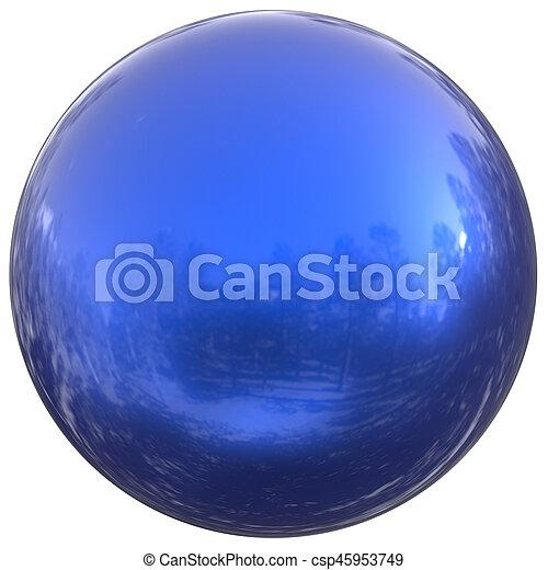 Blue sphere round button ball basic circle geometric shape figure - csp45953749