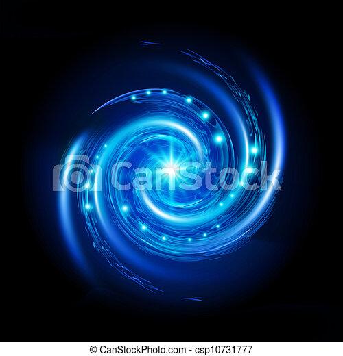 Blue Spiral Vortex - csp10731777
