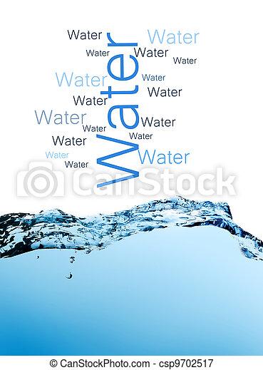 blue splashing water - csp9702517