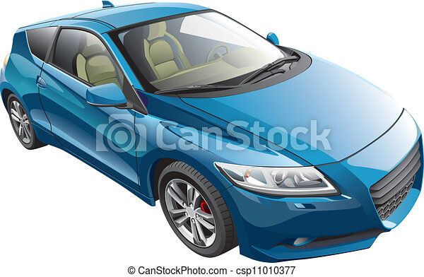 blue sport car - csp11010377