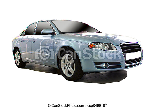 Blue Sports Car Stock Photo