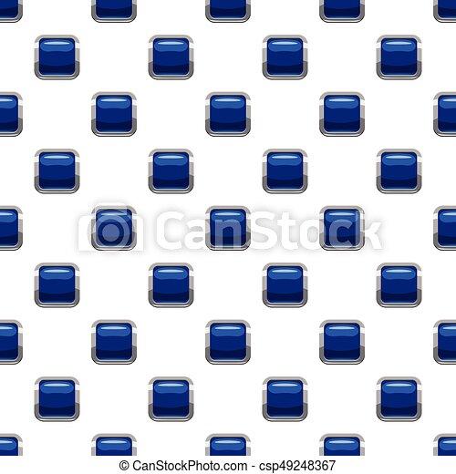 Blue square button pattern - csp49248367