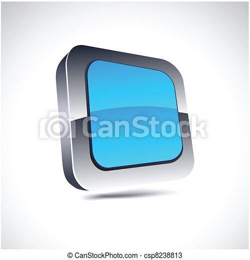 blue square icon. - csp8238813
