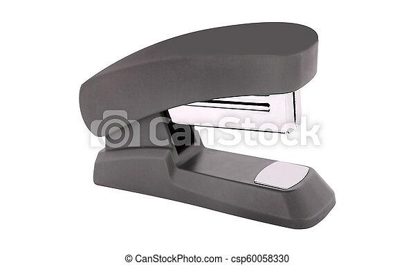 Blue stapler isolated on white background - csp60058330