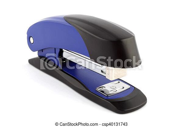 Blue stapler isolated - csp40131743