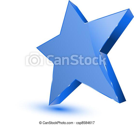 Blue star - favorites symbol - csp8584617