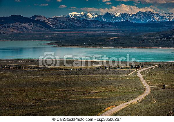 Blue Star Highway to Mono Lake California Overlook - csp38586267