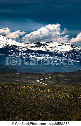 Blue Star Highway to Mono Lake California Overlook - csp38586363