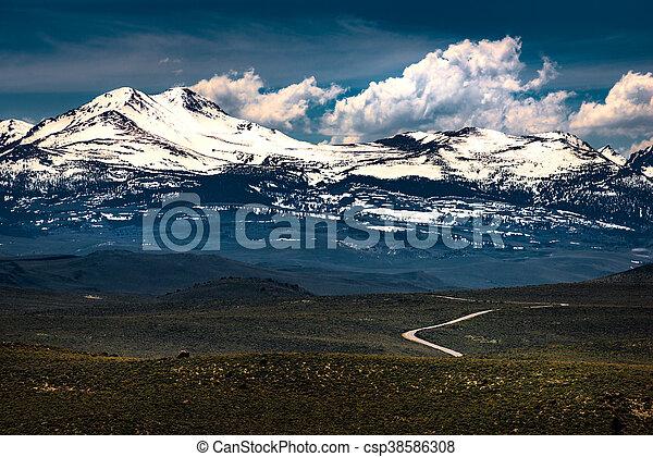 Blue Star Highway to Mono Lake California Overlook - csp38586308