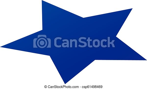 Blue star icon, isometric style - csp61498469