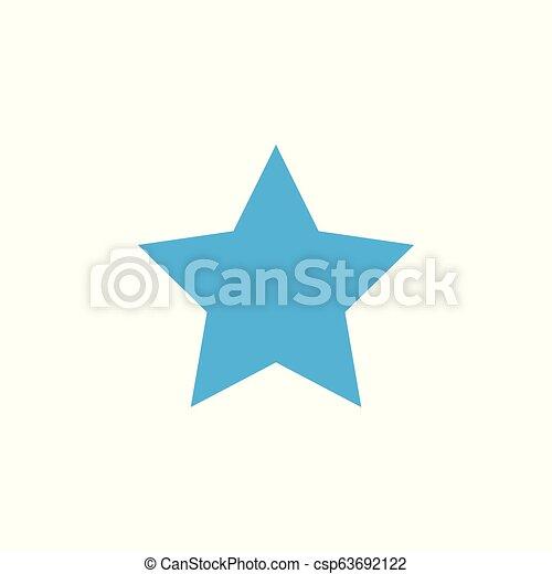 Blue Star icon. Vector illustrations. Flat design. - csp63692122