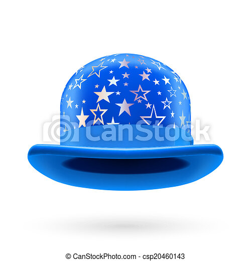 Blue starred bowler hat - csp20460143