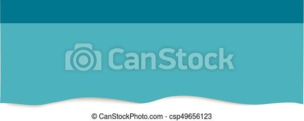 Blue sticker isolated on white background. - csp49656123