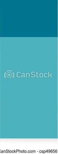 Blue sticker isolated on white background. - csp49656118