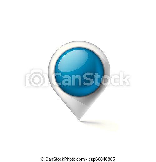 blue sticker on white background. Vector illustration - csp66848865